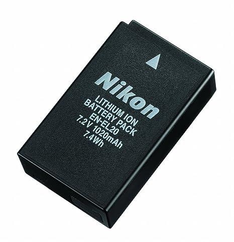 Nikon EN-EL20 - Batería Recargable para Nikon 1 J1 (7.2 V, 1200 mAh, ión de Litio)