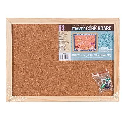 Amazon Com Darice Bulk Buy Diy Cork Memo Board With Push