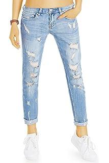 403def6a32a7f0 bestyledberlin Style Damen Girlfriend Jeans - Stretchige lockerer ...