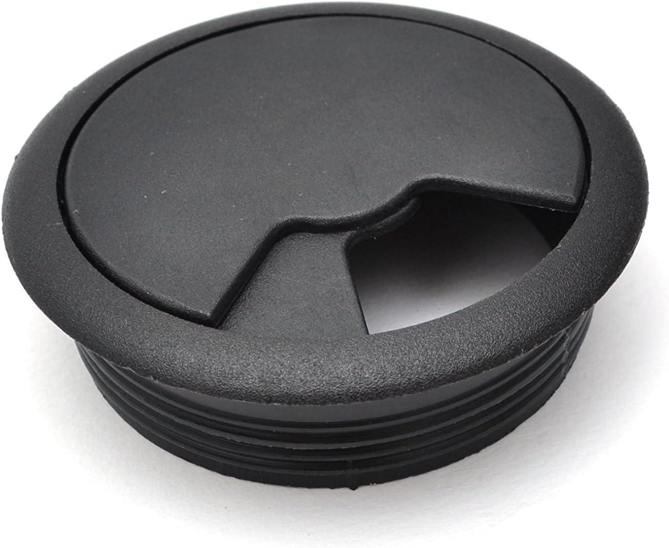 Plastic Duomi 2X 60mm Desk Table Grommet Cable Tidies Desk Caps Desk Surface Port Hole Covers