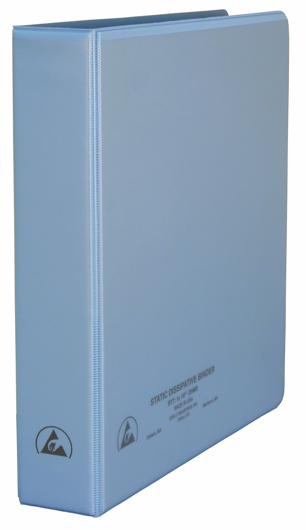 DESCO 7432 Vinyl 3-Ring Static Dissipative Binder with Clear Pocket, 1.5'' Ring, 2.3'' Spine