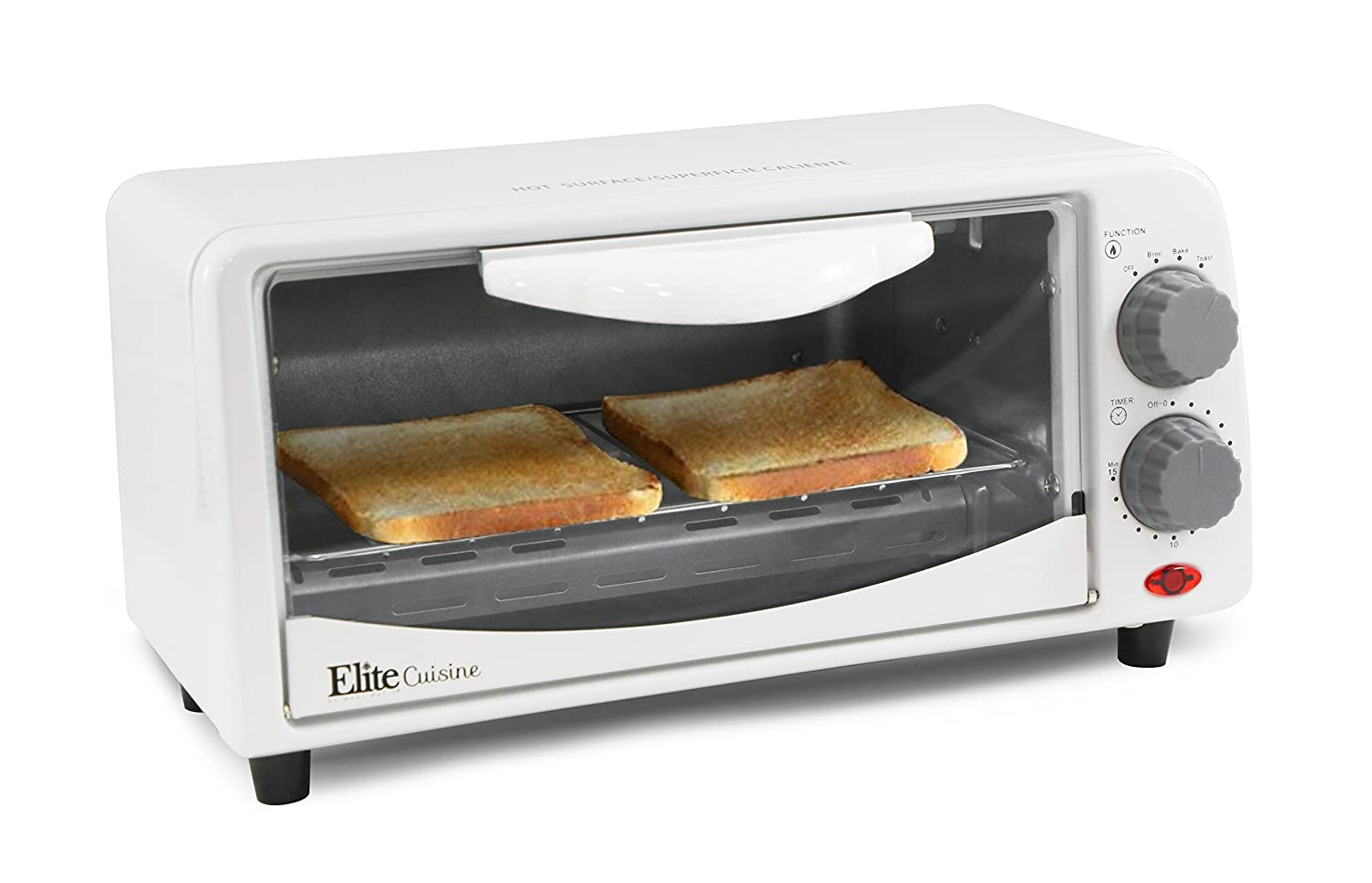 ETO-113Elite Cuisine ETO-113 Maxi-Matic 2-Slice Toaster Oven with 15 Minute Timer, White