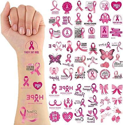 Amazon Com Breast Cancer Awareness Pink Ribbon Tattoos Hope