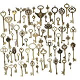 KING DO WAY Antique Bronze Vintage Skeleton Keys Charm Set DIY Handmade Accessories Necklace Pendants Jewelry Making Supplies 69pcs