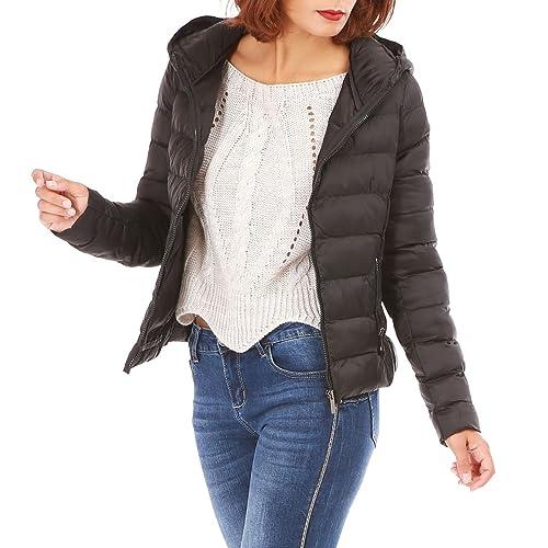 La Modeuse - Abrigo - para mujer negro X-Large