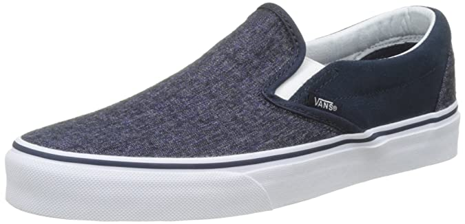 Vans U Classic Slip-on Overwashed, Unisex-Erwachsene Sneakers, Schwarz ((Checkerboard) black/black), 37