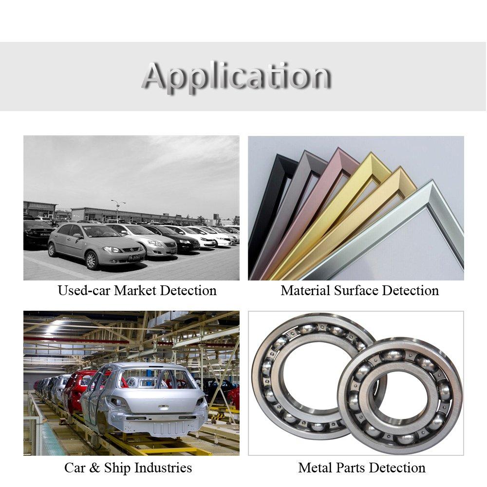 Grandey RM660 Digital Paint Coating Thickness Gauge LCD feeler gauge Tester Fe/NFe 0-1.25mm for Car Instrument Iron Aluminum Base Metal by Grandey (Image #4)