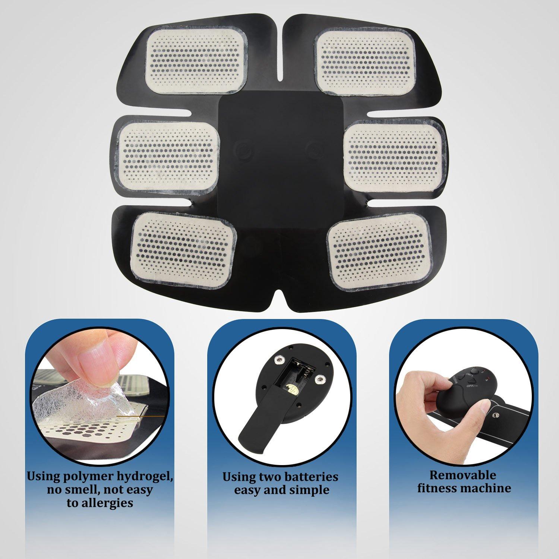 NOWKIN Electroestimulador Muscular Abdominales, Masajeador Eléctrico Cinturón, EMS Estimulador Muscular para Piernas, Brazo y abdomen en casa: Amazon.es: ...