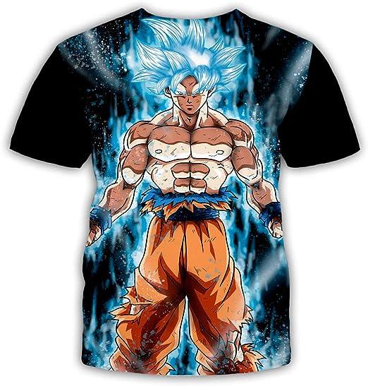YMMONLIA Dragon Ball Series Camiseta Hombre 3D Dragon Ball Print Camiseta Sencilla Creativa de Verano Manga Corta Dragon Ball Z Goku T-Shirt Colorful Impreso en 3D Creativo Camiseta Super Saiyan: Amazon.es: Deportes