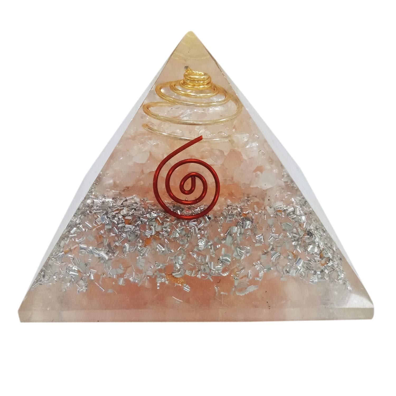 Superwave Extra Large Orgone Pyramid Rose Quartz Crystal Energy Generator EMF Protection Meditation Healing