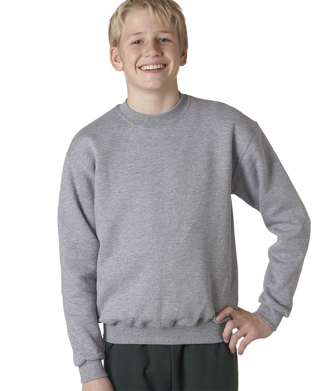 4662B Jerzees Youth Super Sweats Crew Neck Sweatshirt L 45//55 Oxford