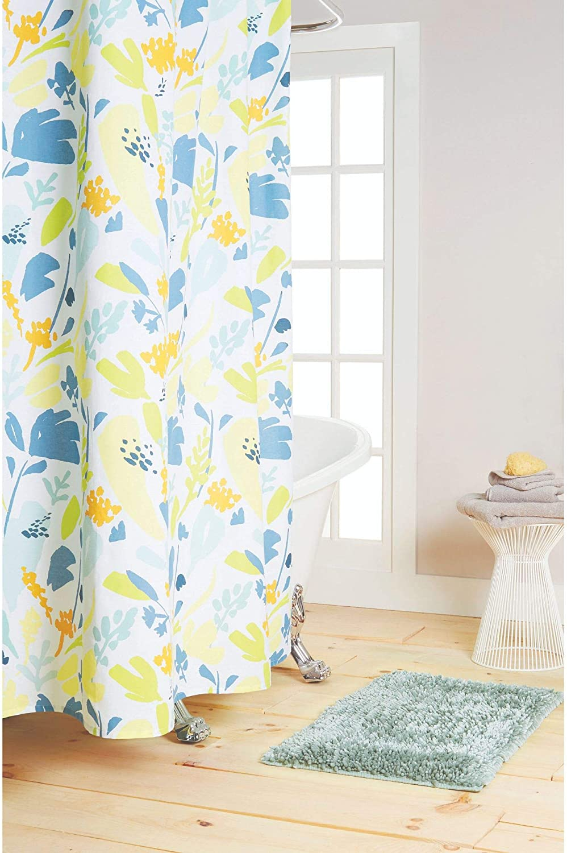 "Nicole Miller Eloise Cotton Shower Curtain, 72""x72"", Multi"