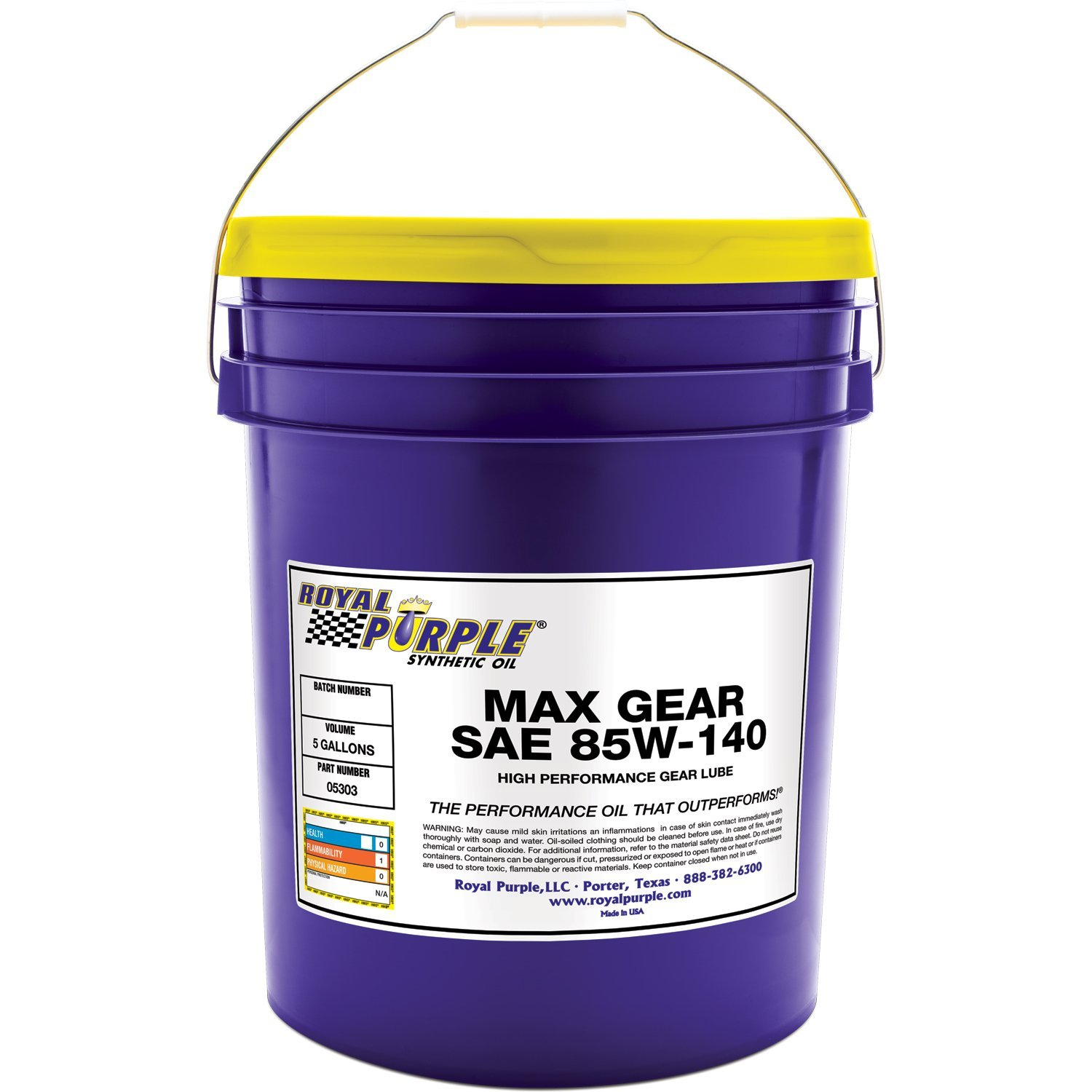 Royal Purple 01303 Max Gear 85W-140 High Performance Synthetic Automotive Gear Oil, 1 Quart Bottle ROY01303