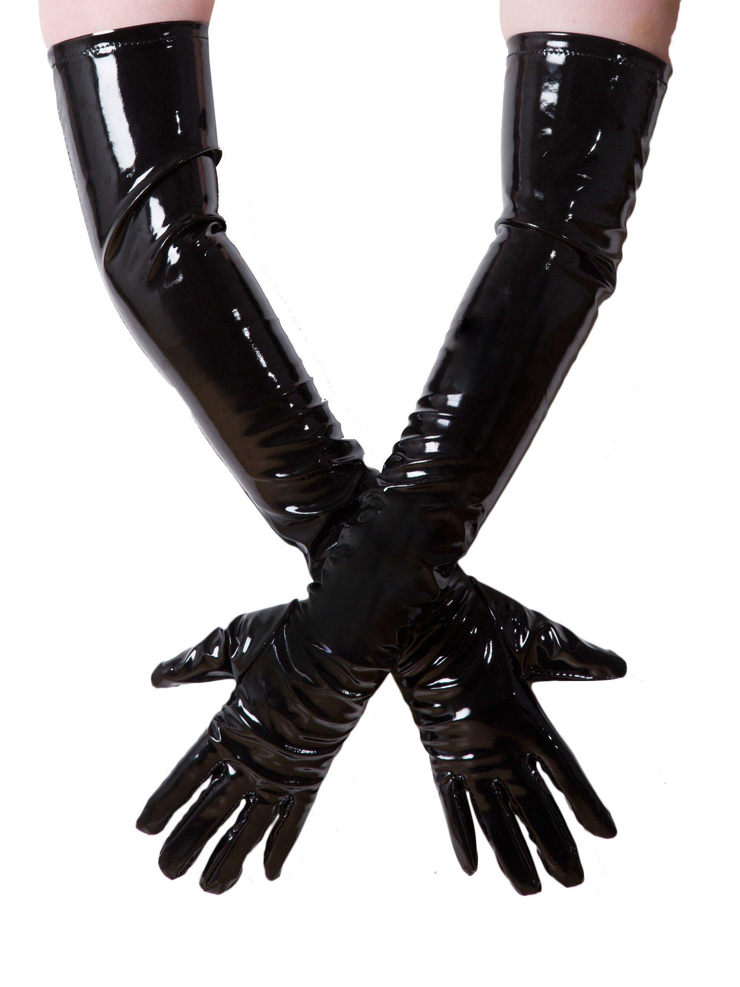 Honour PVC Tie Side Bedboots in Black Black