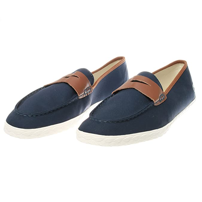 Lacoste - Mocasines de material sintético para hombre, color azul, talla 39.5: Amazon.es: Zapatos y complementos