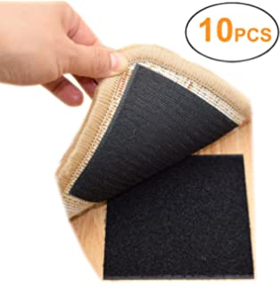 Rug Anchors Carpet Hook and Loop Non-slip Mat Anti-skid Stickers (10PCS