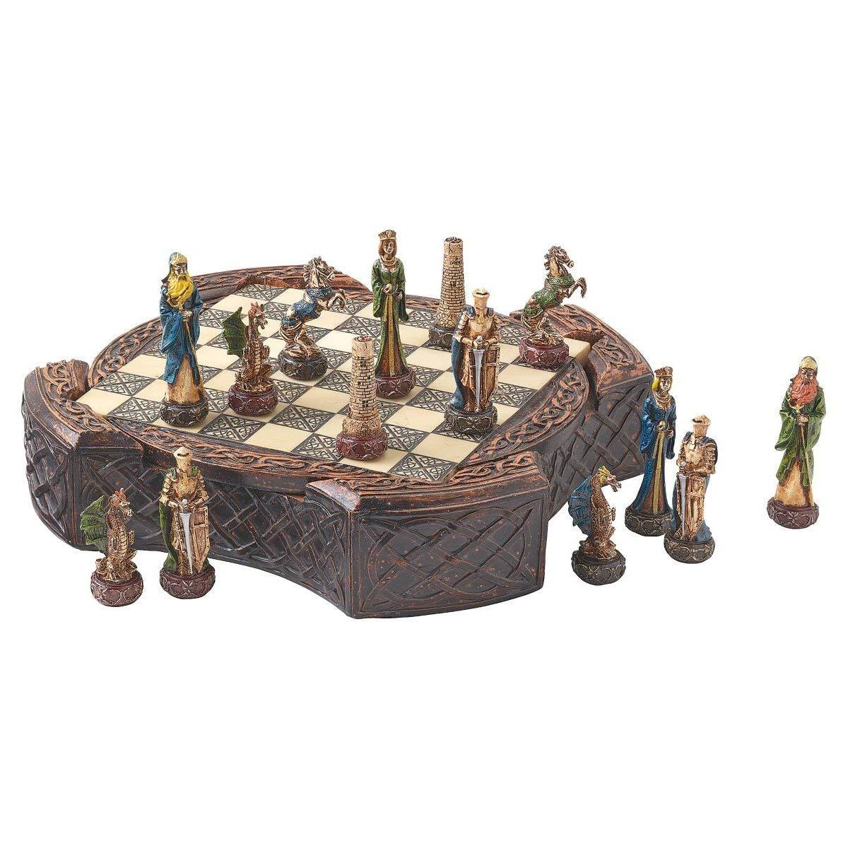 Design Toscano Legendary Celtic Warriors Chess Set and Board