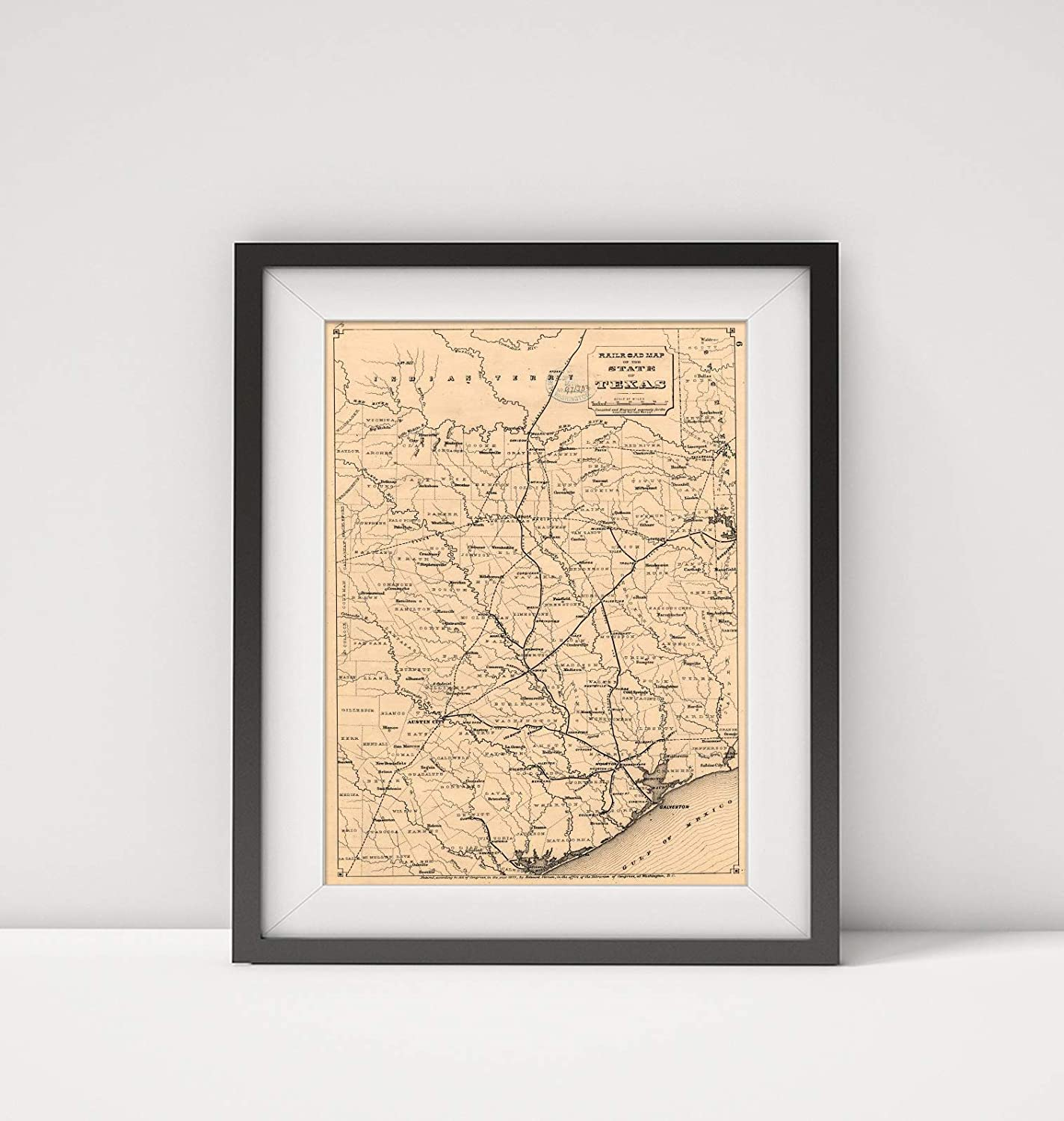 Amazon.com: 1873 Map le: Railroad map of The State of ... on texas map of monterey, texas indian map, texas map of arizona, texas map of dallas, texas county map, texas map of cordova, texas map of fremont, texas world map, texas map of paris, texas europe map, texas space, texas us map,
