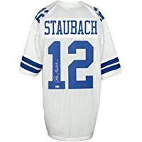 $219 » Roger Staubach Signed Custom White Pro-Style Football Jersey BAS
