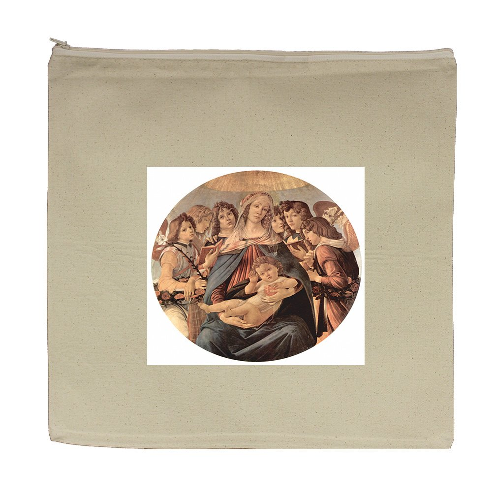 Maria Christ Child 6 Angels (Botticelli) Canvas Zipper Tote Bag Makeup Bag