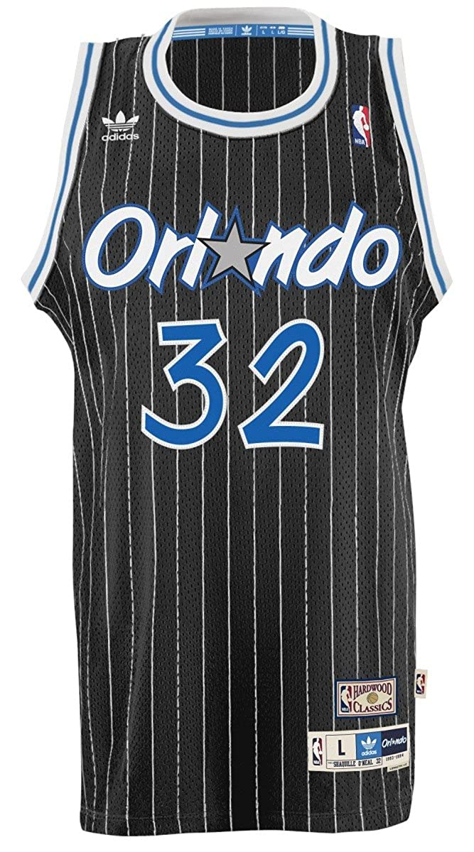 Shaquille O Neal Orlando Magic Adidas NBA Throwback Swingman Jersey -  Black  Amazon.co.uk  Clothing 61d358e02