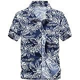 Leoie Shirts Men Fashion Short Sleeve Quick-Drying Cool Printed Beach Shirt