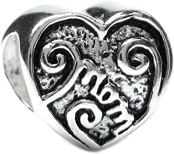 Hearts Love 925 Sterling Silver Solid Charm Beads European Bracelets