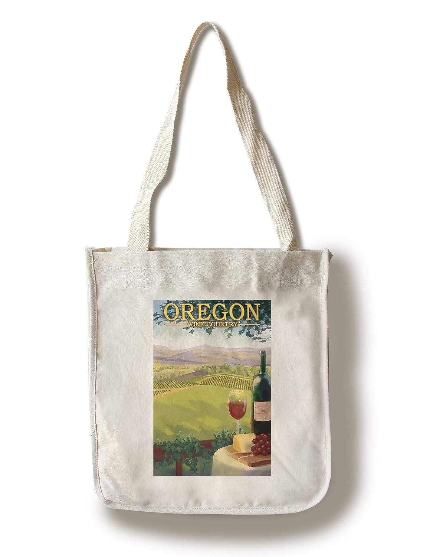 オレゴンワインカントリー Canvas Tote Bag LANT-30936-TT B01841G2GM  Canvas Tote Bag