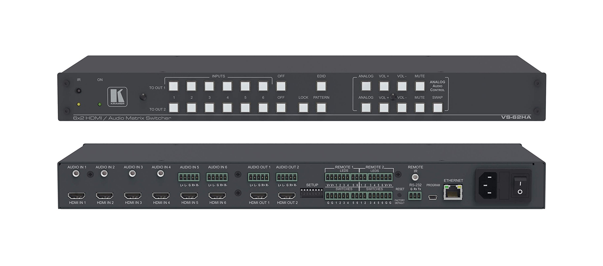 Kramer VS-62HA 6x2 4K HDMI/Audio Automatic Matrix Switcher