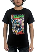 Big Bang Theory - Mens Bazinga Comic Book Cover T-shirt in Black