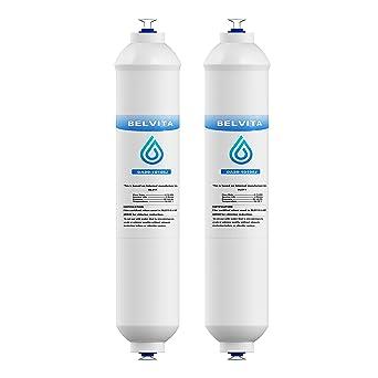 BELVITA Fridge Freezer Water Filter DA29-10105J Compatible With Samsung  Beko LG Haier External Fridge Water Filter Replacement Cartridge, 2 Pack