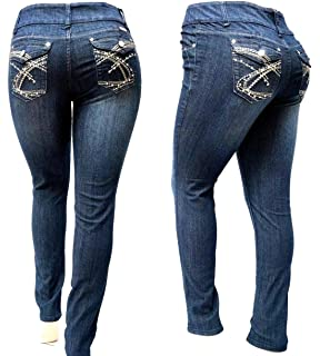00392251 BE BY HAILEY DARK BLUE HIGH WAIST WOMEN'S PLUS SIZE denim jeans SKINNY LEG  14-
