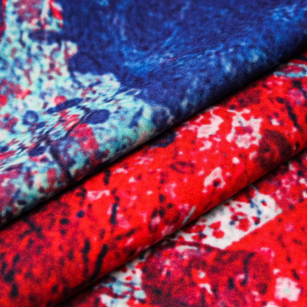 WFeieig Fashion Mens Short Shirt 3D Printing Sleeve T-Shirt Casual Soft Blouse Personality Tops