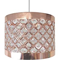 Moda Sparkly Ceiling Pendant Light Shade Fitting, Metal, Copper
