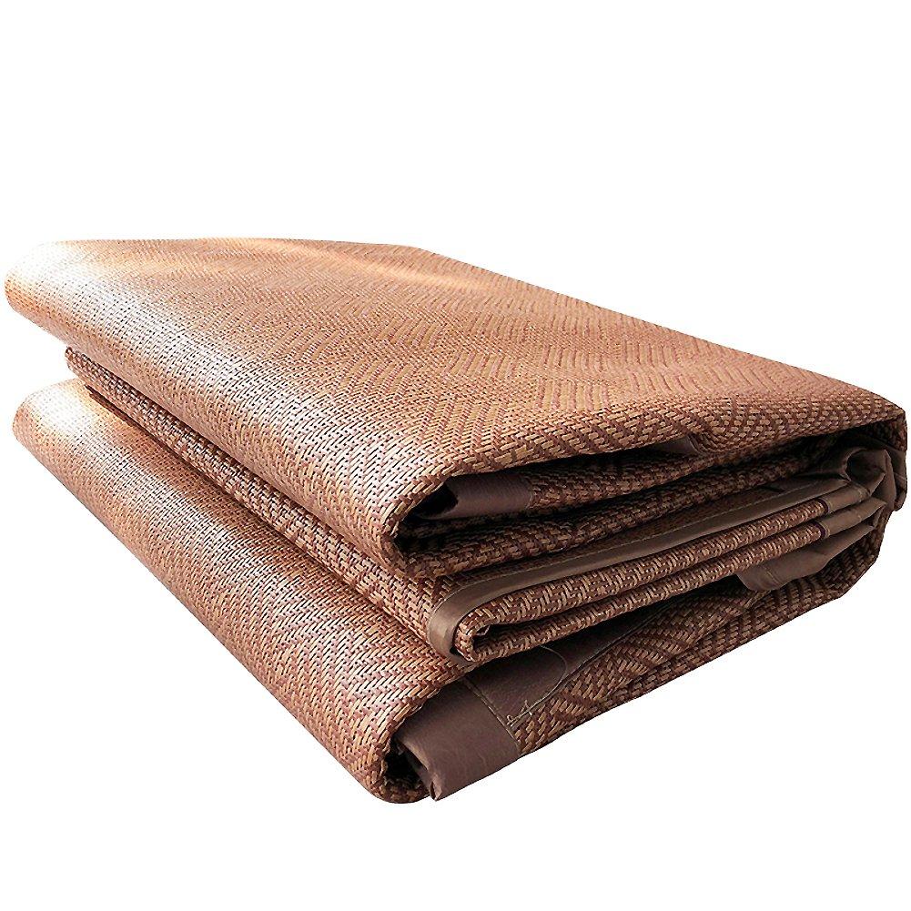 夏の寝袋, 籐マット クイーン 両面 氷シルク マット 折り畳み式 超柔らかいクール寝具-A 200x220cm(79x87inch) B07D16D3CM 200x220cm(79x87inch) A A 200x220cm(79x87inch)