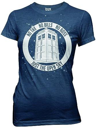 80c41f054 Doctor Who No Boss No Bills Camiseta De Los Azules Marinos Para Jóvenes   Amazon.es  Ropa y accesorios