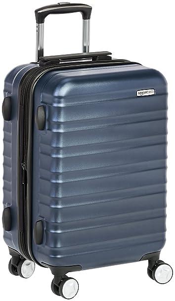 2812661b6 AmazonBasics Maleta rígida Spinner, 51 cm equipaje de mano, azul marino