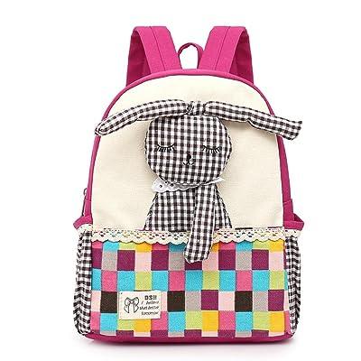 Kids Backpack, Sagton Super Cute 3D Bunny Pattern Baby Girls Daypack Students School Bookbags Lightweight