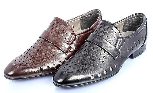 Apogee London H1287 - Mocasines de Material Sintético para hombre Negro negro: Amazon.es: Zapatos y complementos