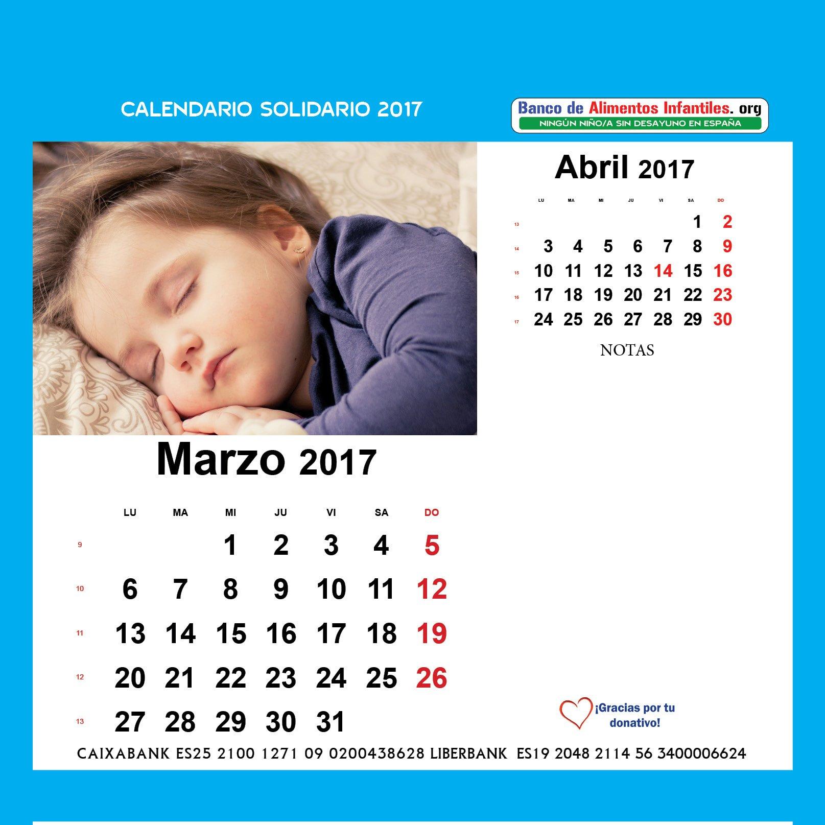 CALENDARIO SOLIDARIO 2017: Amazon.es: BANCO DE ALIMENTOS INFANTILES, BANCO DE ALIMENTOS INFANTILES, BANCO DE ALIMENTOS INFANTILES: Libros