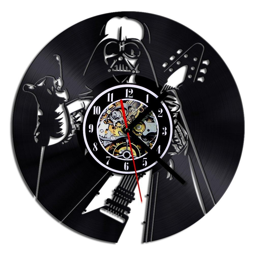 Ducomi® Anakin - Reloj de pared con imagen de Darth Vader tocando la guitarra eléctrica - Reloj de pared con diseño de Star Wars - movimiento de cuarzo ...
