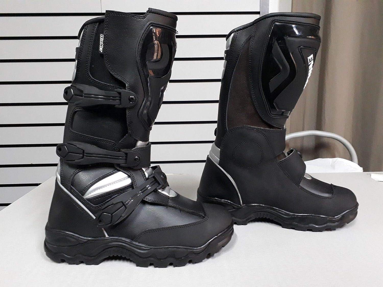 WinNet Stivali stivaletti per moto da turismo pelle con protezioni