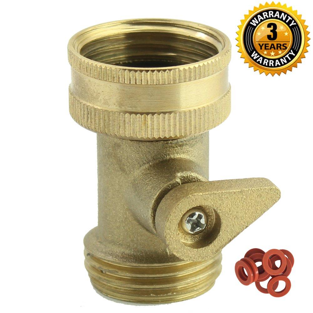 a1006 heavy duty brass garden hose shut off valve with complimentary garden hose ebay