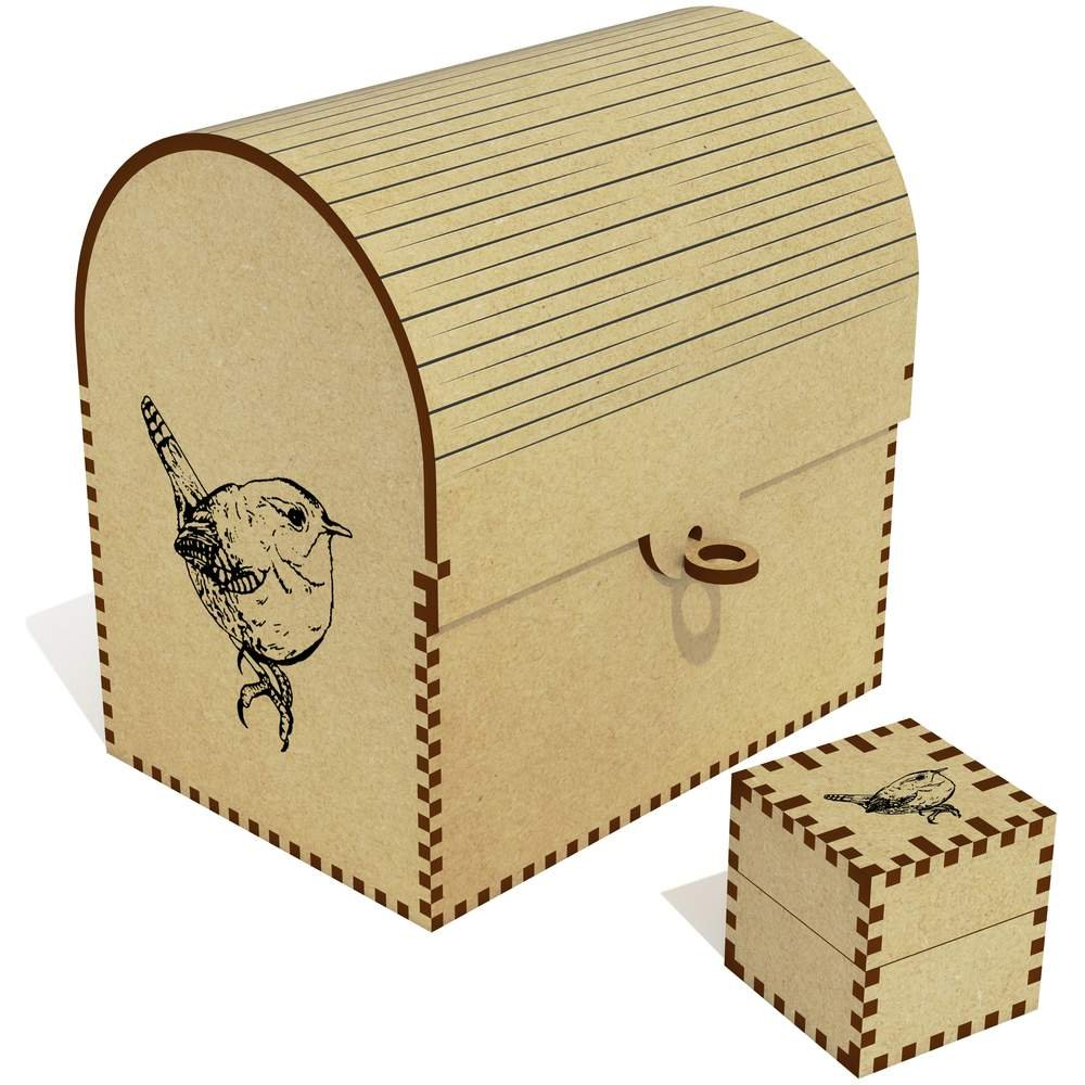 Azeeda 'Wren Bird' Treasure Chest / Jewellery Box (TC00030117) by Azeeda