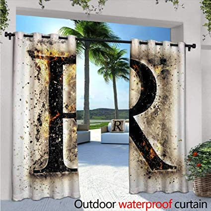 Amazon.com: Letter R Outdoor Privacy Curtain for Pergola ...
