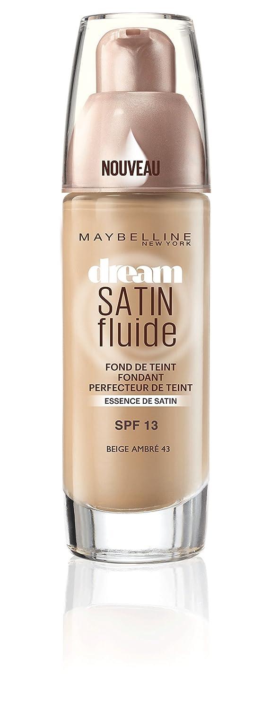 Maybelline New York Fond de Teint Dream Satin Fluide FPS13 48 Beige Ensoleillé 30 ml Gemey Maybelline