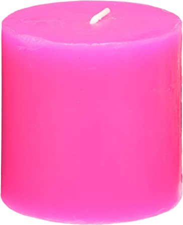 Red Square Zest Candle Pillar Candle 3 by 6-Inch