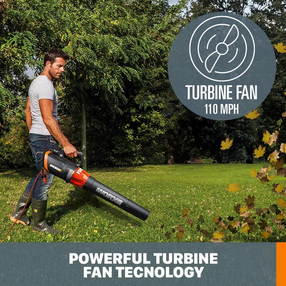 WORX WG520 TURBINE 600 12 Amp Electric Leaf Blower