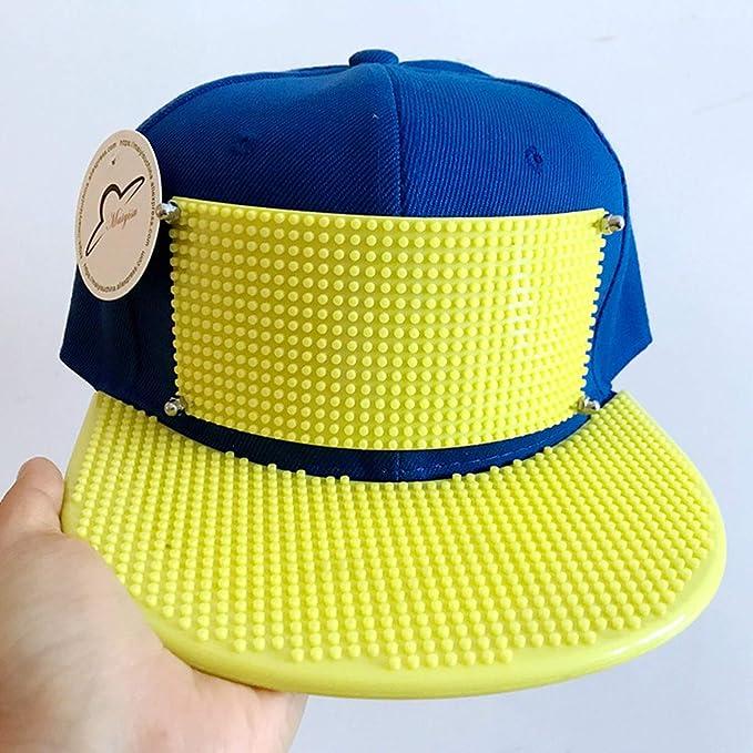 Mosaics Custom Brick Baseball Cap Building Toy Customize Blocks Hats Solid Gorras Snapback Basketball Cap at Amazon Womens Clothing store: