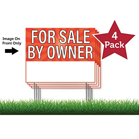 "AUCTION TODAY RIGHT ARROW 18/""x24/"" Yard Sign /& Stake outdoor plastic coroplast"